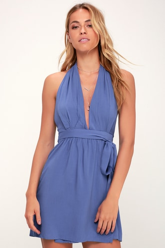 1398acb81daa Positively Perfect Periwinkle Blue Wrap Dress
