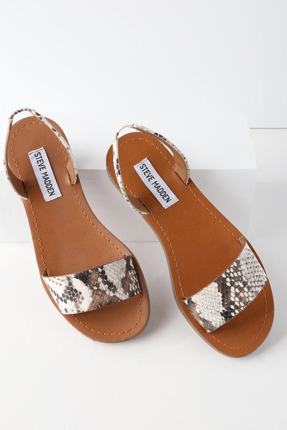 ed94d83f0c8 Steve Madden Alina - Snake Sandals - Flat Sandals