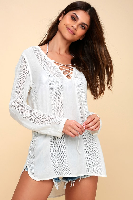 8151f9e03f Billabong Same Story Swim Cover-Up - Hooded Cover-Up