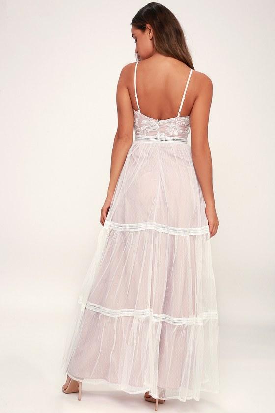 5edea0bf718 Stunning White Maxi Dress - White Embroidered Maxi Dress