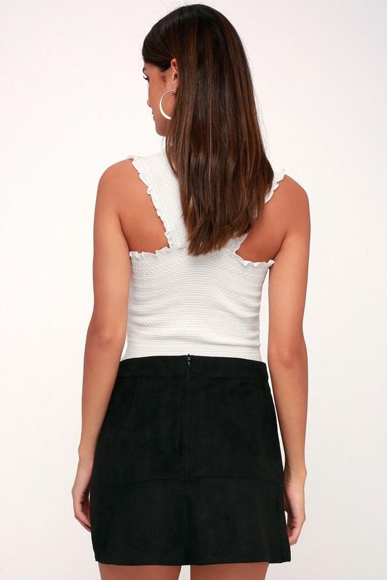 2ec93edcfc9e75 Black Skirt - Suede Skirt - Mini Skirt - A-Line Skirt