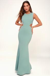 Utterly Smitten Dusty Sage Cutout Maxi Dress 15f70219d9d9