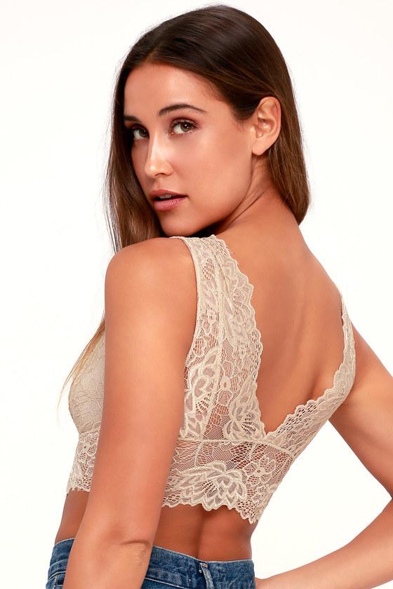 9849170ca4 Sexy Nude Bralette - Lace Bralette - Sheer Bralette