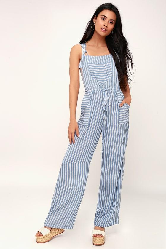 3a6cadcf50e Lucy Love Portofino - Blue and White Overalls - Striped Overalls