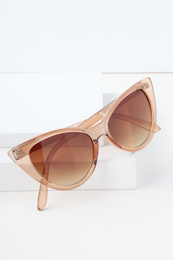 2d7bce124a31bc Chic Beige Sunglasses - Cat-Eye Sunglasses - Cat-Eye Sunnies