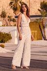 Lovely Lace Jumpsuit White Jumpsuit Sleeveless Jumpsuit