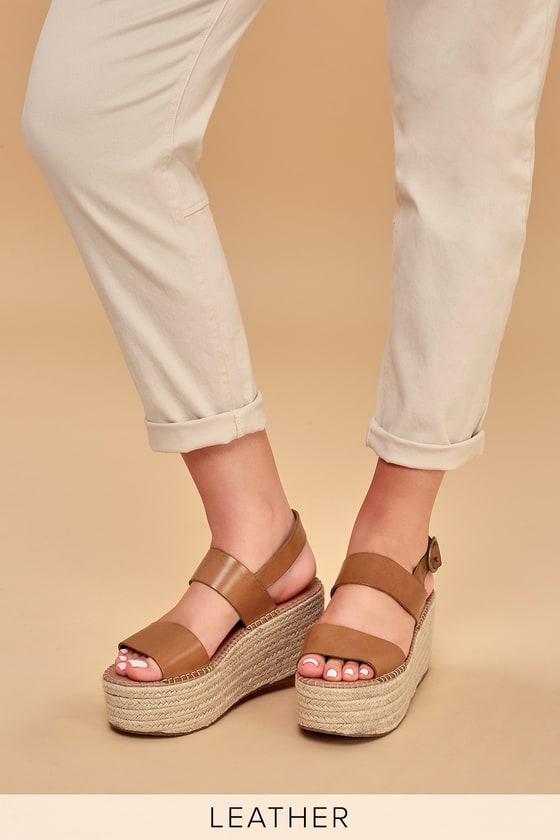 1ef32861629 Steve Madden Cali - Leather Platform Sandals - Espadrille Sandals
