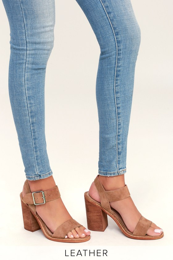 b745946124c Steve Madden Castro - Tan Sandals - Suede Leather Sandals