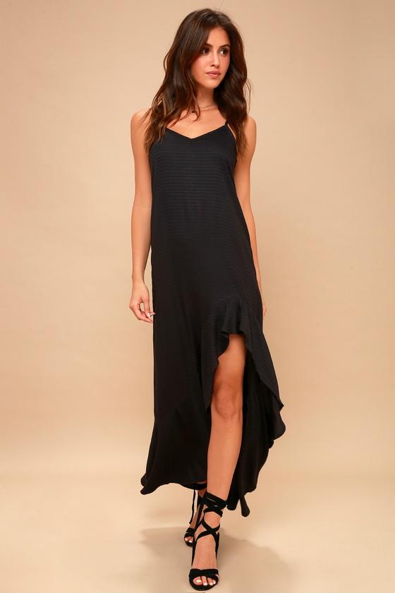 Kick It Up Black Maxi Dress by Billabong