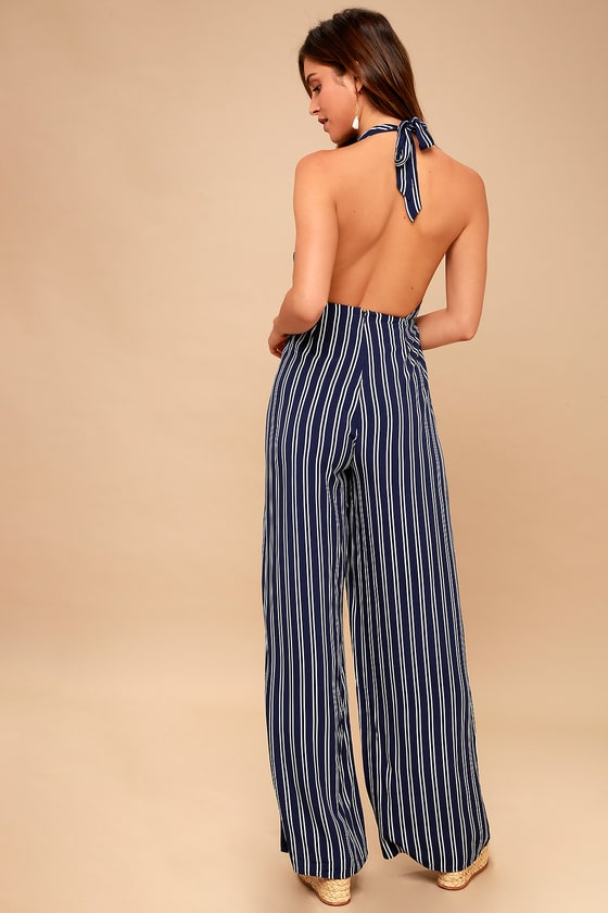 1a39be3314c Jack by BB Dakota All the Way Up - Blue and White Stripe Jumpsuit