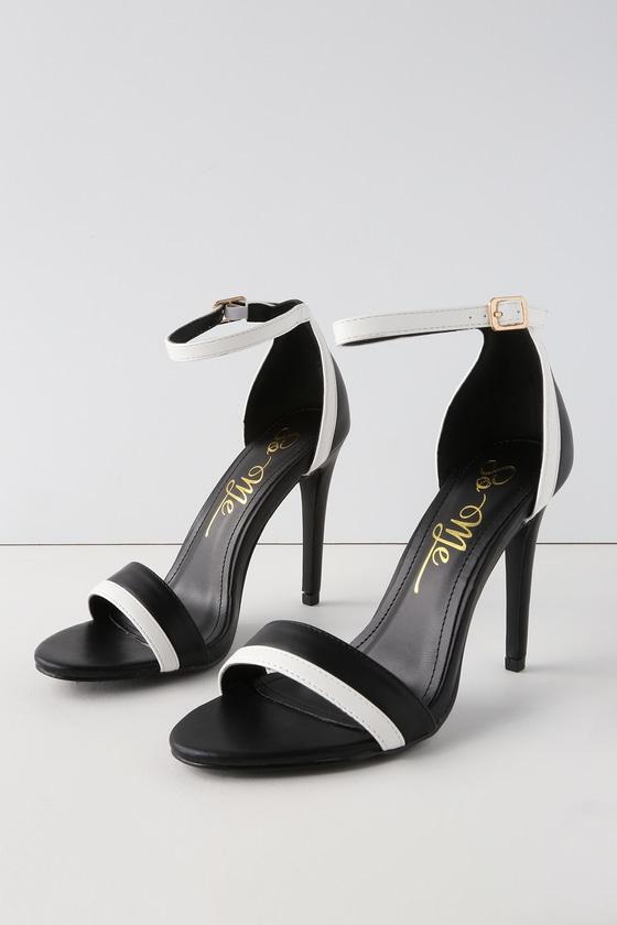 Anabel Black Ankle Strap Heels