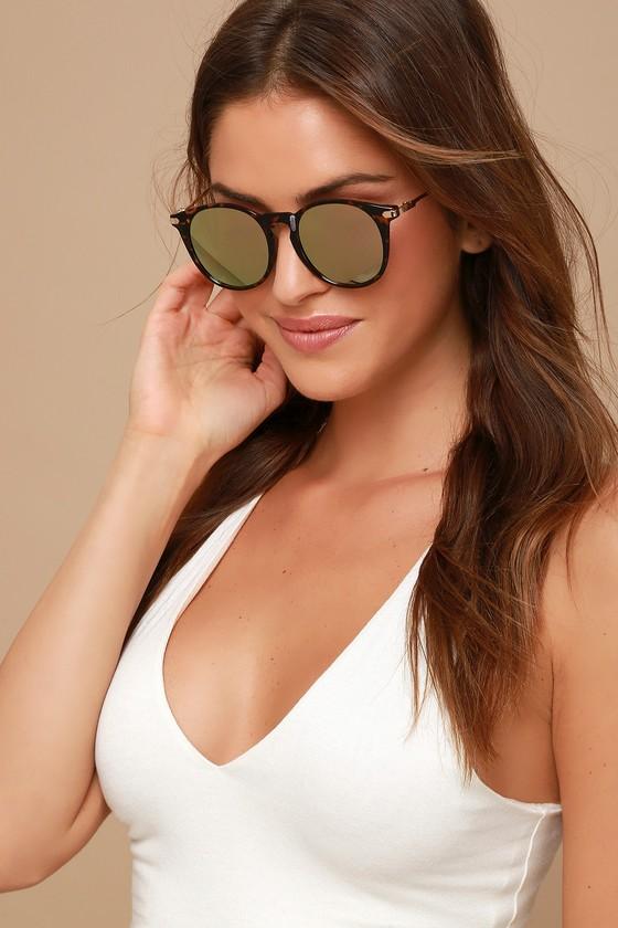 6b03ad3bad3 Tortoise and Pink Sunglasses - Mirrored Sunglasses - Sunglasses