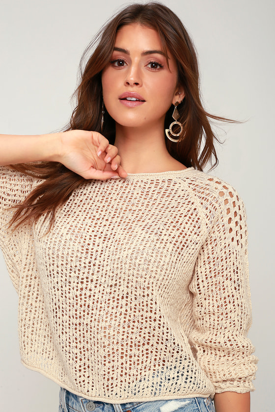 sea-ya-soon-beige-knit-sweater by lulus