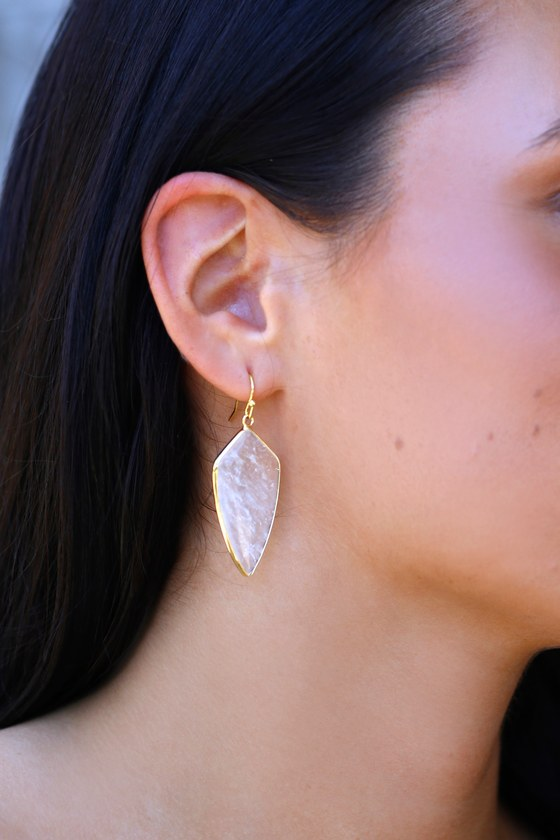 Boho Bliss Gold And Clear Earrings by Lulus
