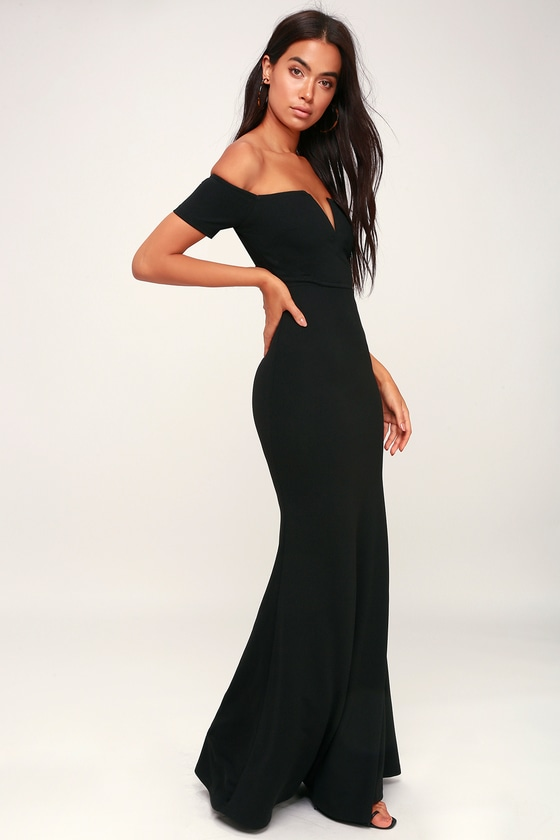 6b328a0284 Stunning Maxi Dress - Black Mermaid Maxi Dress - Black Maxi Dress
