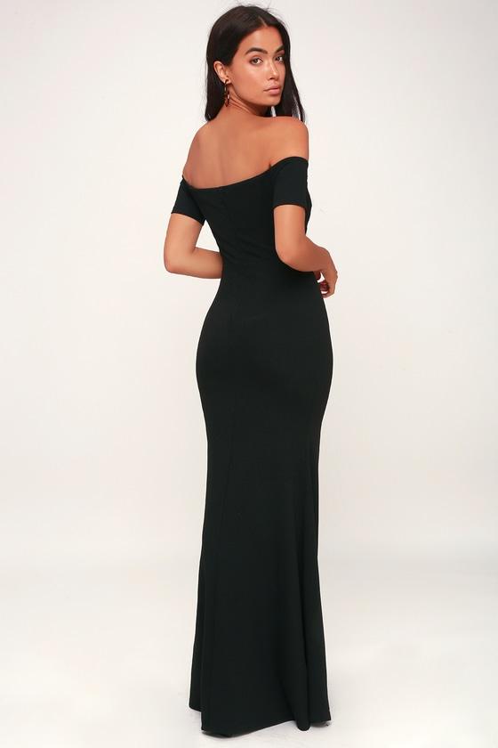 42a2d9154987 Stunning Maxi Dress - Black Mermaid Maxi Dress - Black Maxi Dress