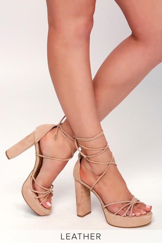 e5820c55a0cfa Tony Bianco Salma Heels - Bush Heels - Blush Leather Heels