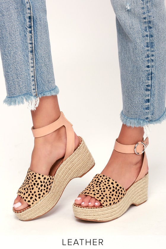 f2f0df88841 Dolce Vita Lesly - Leopard Calf Hair Wedges - Espadrille Wedges