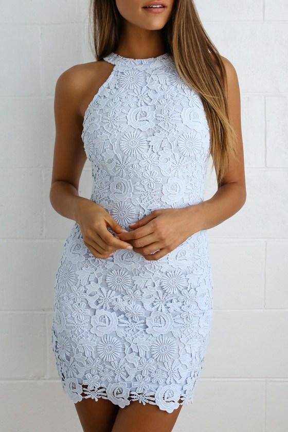 Love Poem Light Blue Lace Dress
