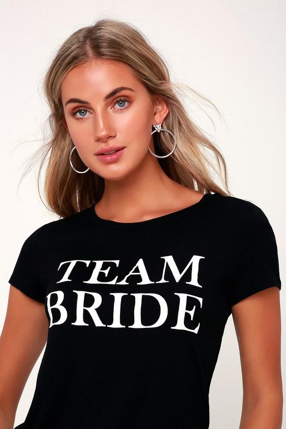 TEAM BRIDE BLACK TEE SHIRT