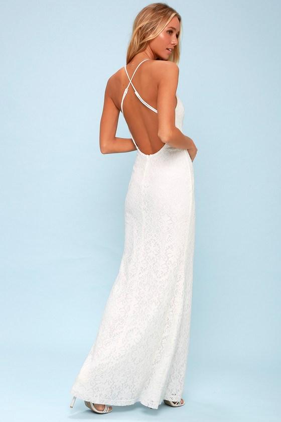 cfdf786ecc Lovely White Dress - Lace Dress - White Maxi Dress