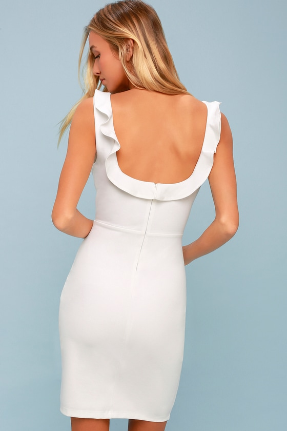 And pumps bottom of dress with dress ruffle bodycon