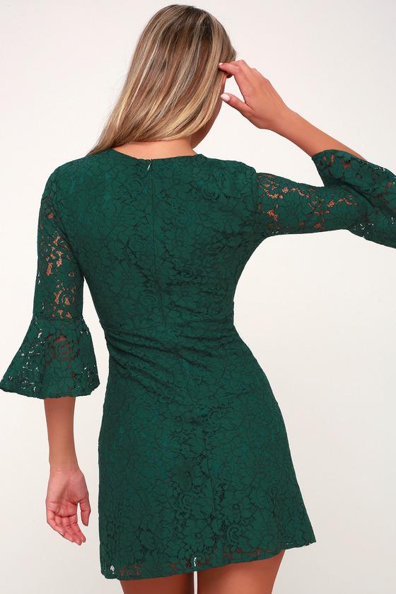 2ac8e916f5d Cute Green Dress - Lace Dress - Flounce Dress - Party Dress