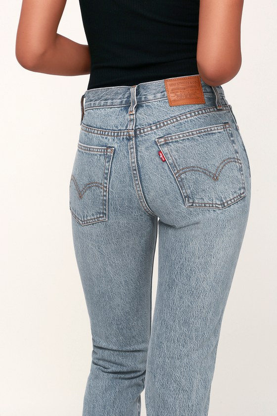 17f76f3980 Levi s Wedgie Fit - Light Wash Jeans - High Rise Jeans - Jeans