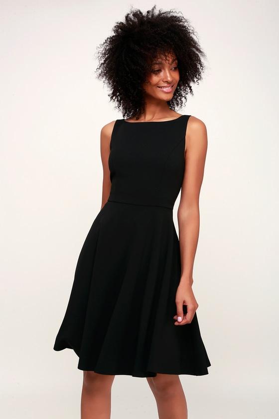 3c51282f7a2 Cute Skater Dress - Black Skater Dress - Party Dress - LBD