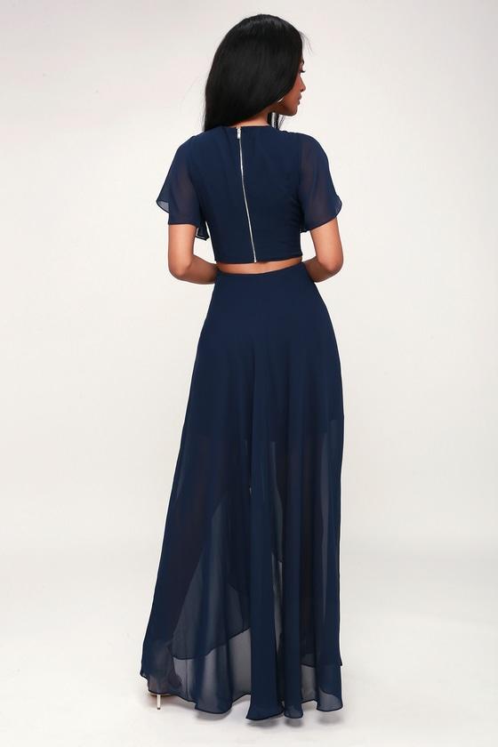 9400aa0d6069 Ali & Jay Bohemian Rhapsody - Navy Blue Dress - High-Low Dress