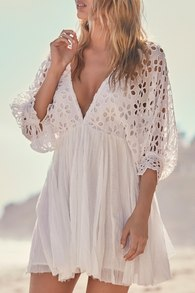 bella note white eyelet mini dress