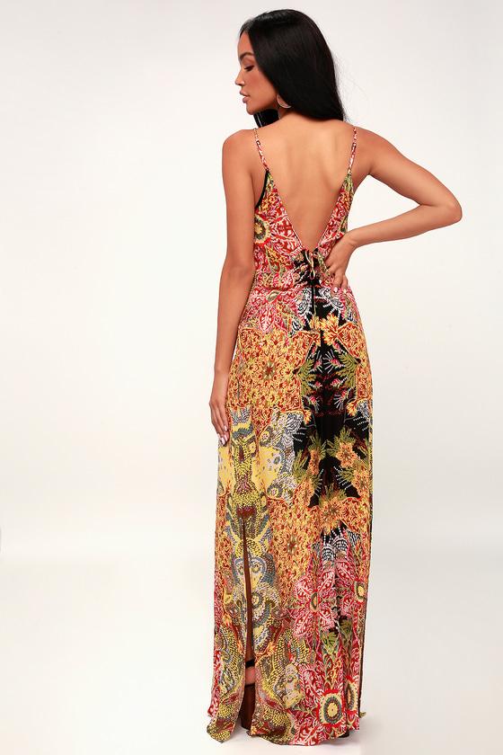 0169349945f2 Free People Wildflower - Slip Dress - Maxi Dress - Black Dress