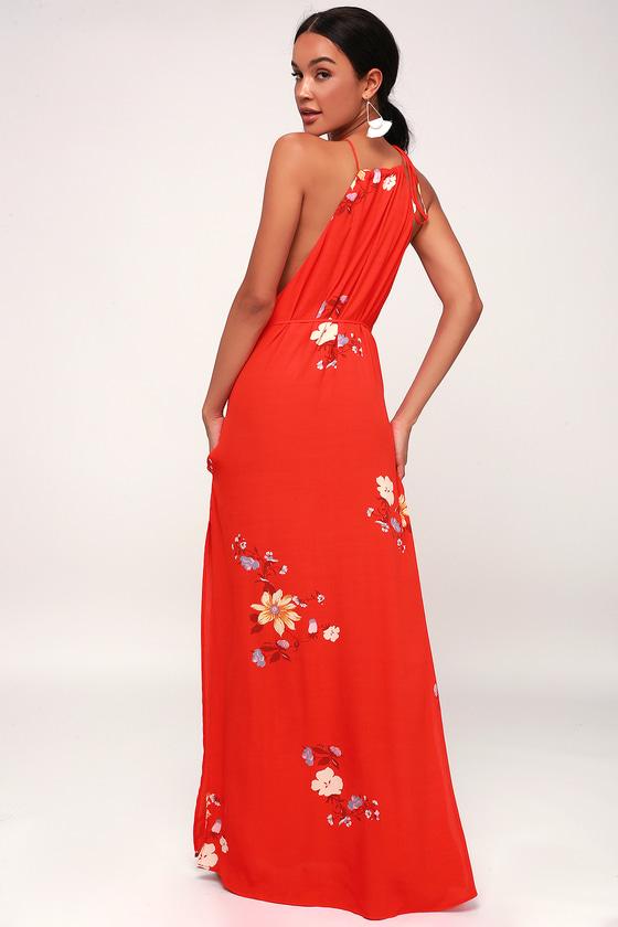ad69b800eb Capulet Lia Maxi - Red Floral Print Dress - Floral Maxi Dress