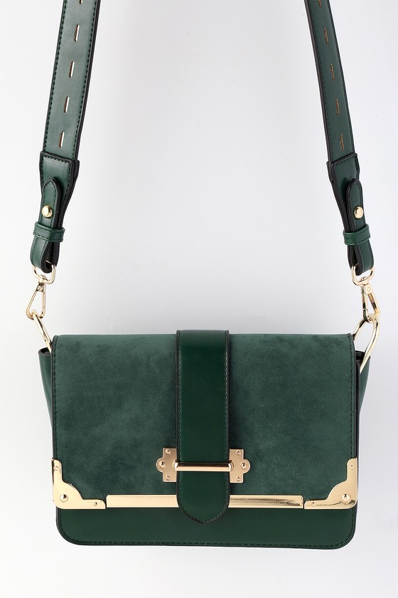 Chic Forest Green Purse - Vegan Leather Purse
