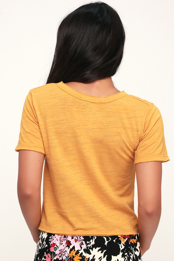 71be981d39 DAY Rebel - Notched Tee - Cropped Tee - Yellow Tee - Burnout Tee