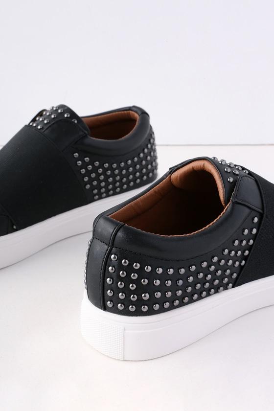 Black Sneakers - Studded Sneakers - Lulus