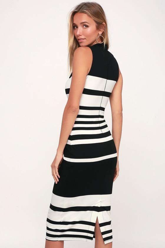 Curvy houston black and white bodycon dress no dress