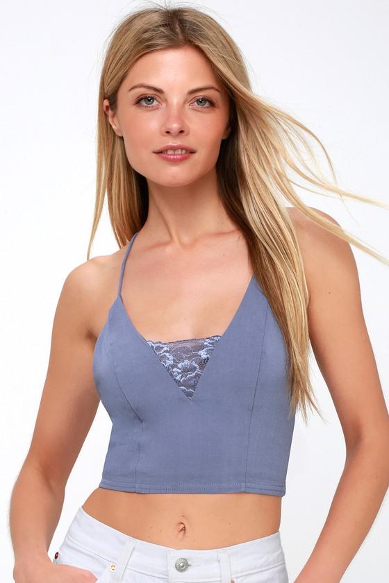b15330f894 Free People The Century - Lace Brami - Blue Bralette