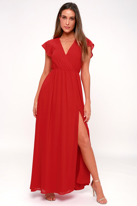 Vintage Christmas Dress | Party Dresses | Night Out Outfits Lost in the Moment Red Maxi Dress - Lulus $38.00 AT vintagedancer.com