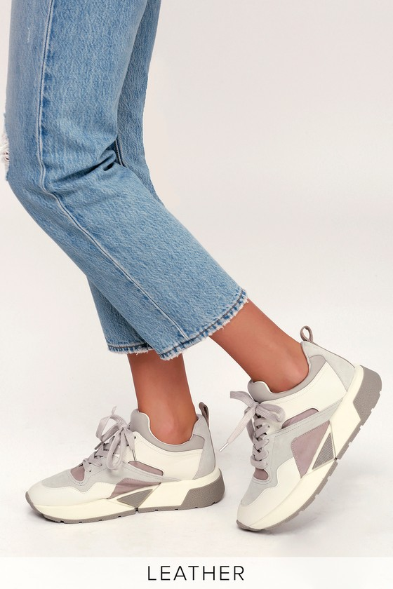 4961848a5af8 Dolce Vita Walter - White Sneakers - Suede Leather Sneakers