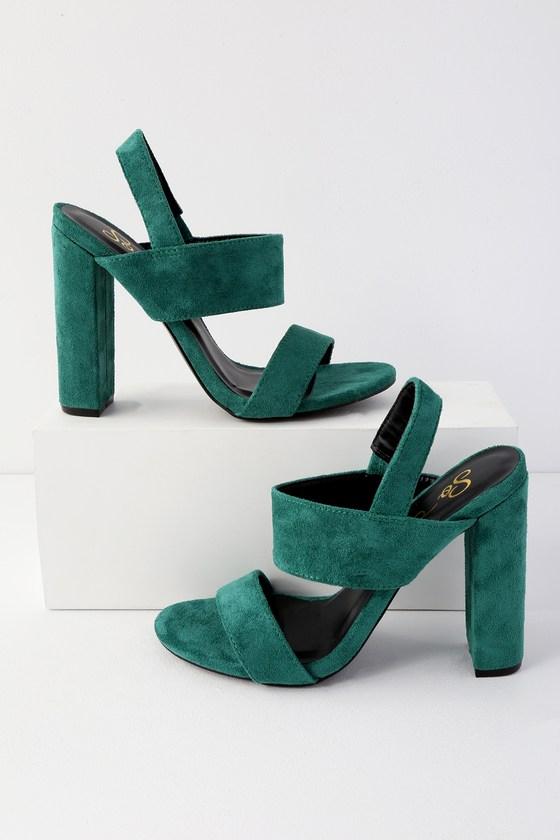Cute Green Heels - High Heel Sandals