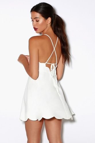 428512aaa9bdd Play On Curves Ivory Backless Dress