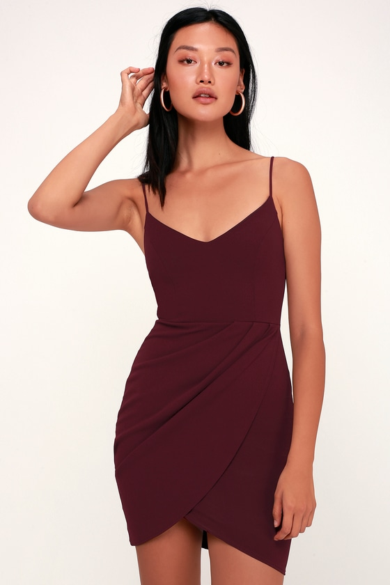 Forever Your Girl Plum Purple Bodycon Dress