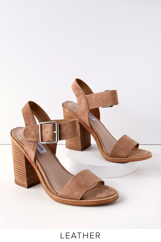 213e14b175f Steve Madden Castro - Tan Sandals - Suede Leather Sandals