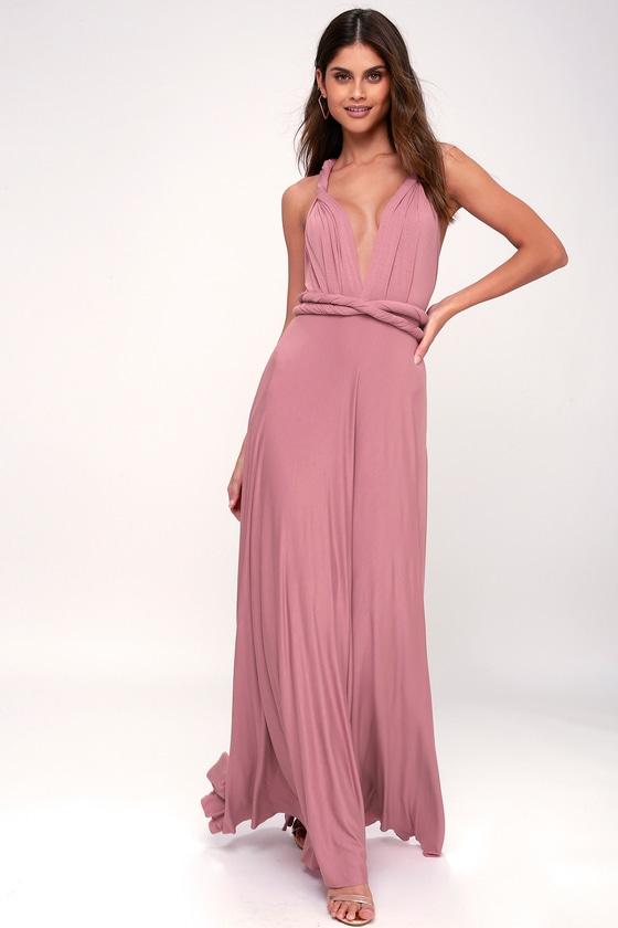 Awesome Mauve Dress - Maxi Dress - Wrap Dress 6109ee3b7