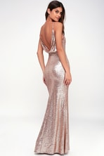 c7065006 Bariano Rebecca Dress - Rose Gold Dress - Sequin Dress - Maxi Dress ...