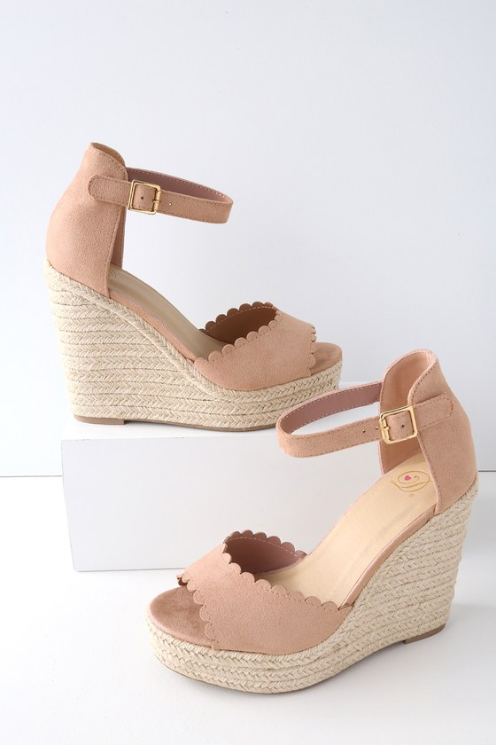 4b2f34802ed Cute Mauve Wedges - Espadrille Wedges - Vegan Wedges