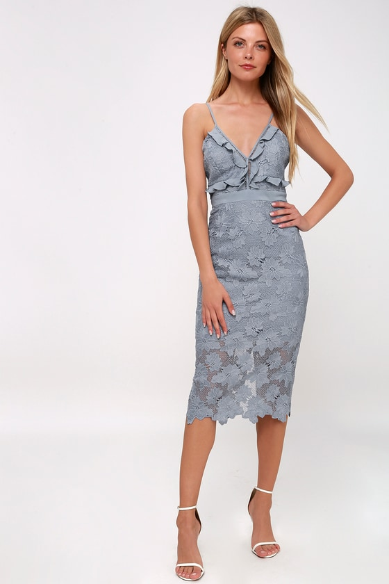 130fe3d02716 Bardot Vienna - Lace Dress - Midi Dress - Lace Sheath Dress