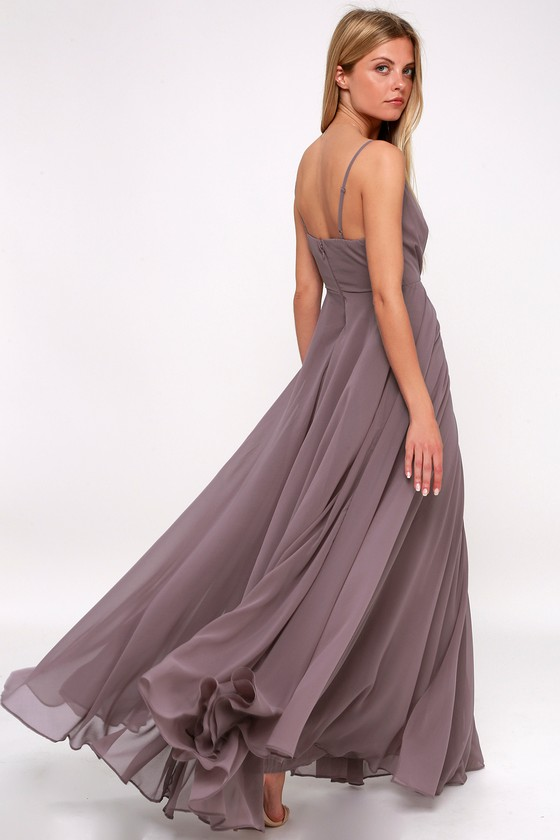 Stunning Dusty Purple Maxi Dress - Gown - Bridesmaid Dress