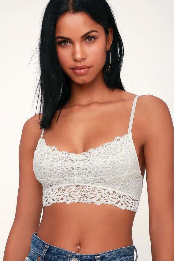 0186d707db Cute White Lace Bralette - White Bralette - Lacy White Bralette